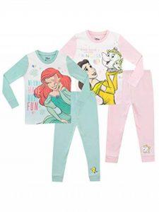 Ensemble De Pyjamas Paquet de 2 Bien Ajusté - Ariel et Belle - Fille de la marque Disney image 0 produit