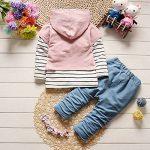 Ensemble Sweat-Shirt Bébé Fille, T-Shirt Rayures avec Capuchon Noël Vêtements de la marque Mounter image 1 produit