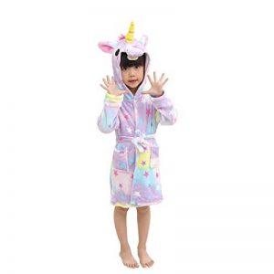 EuHigh Peignoir Enfant Vêtements Confortable Polaire Doux Licorne à Encapuchonné Vêtements de Nuit Cadeau Unisexe de la marque EuHigh image 0 produit