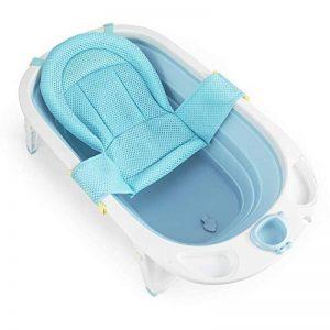 Fascol Baignoire Pliable pour Bébé 0-36 Mois avec Hamac de Bain et Bouchon de Vidange (Bleu clair) de la marque Fascol image 0 produit