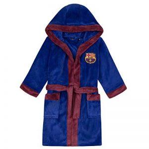 FC Barcelona - Robe de chambre à capuche thème football - polaire - garçon de la marque F-C-Barcelona image 0 produit