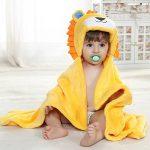 Feelme Robe de Chambre Polaire Enfant Peignoir Sortie de Bain à Capuche Animaux pour Bébé Cape de Bain Flanelle Microfibre de la marque Feelme image 2 produit
