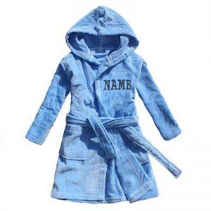 FEETOO] Peignoir prénom garçon brodé avec Une Robe de Chambre 100% Coton de la marque FEETOO image 0 produit