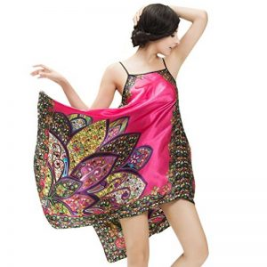 Femme Peignoir de Bain en Satin Pyjama Short Fronde Backless de la marque NiSeng image 0 produit