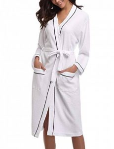 Femme Peignoir de Bain Waffle Kimono Tissage Gaufré Coton Peignoir de Bain Waffle Robe de Chambre de la marque Sykooria image 0 produit