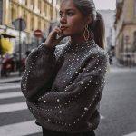 Femme Pull Pas Cher A La Mode Casual Doux Tricoté Sexy Tops Col Rond DéCoration De Perles Pullover Sweaters Blouse de la marque Susenstone image 3 produit