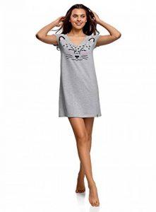 Femme Robe d'Intérieur avec Appliqué et Col V de la marque oodji-Ultra image 0 produit