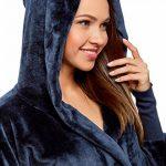 Femme Robe de Chambre à Capuche et Lien Coulissant de la marque oodji-Ultra image 2 produit