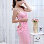 Femme Été Sexy Col V Sans manche Wearable Séchage Douce Peignoir de Bain Serviette Bathrobe Spa Sauna Paréo Plage de la marque Minetom image 2 produit