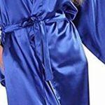 Femmes Chemise De Nuit en Satin De Mariée Longue Robe De Demoiselle d'honneur De Basic Mariée Robe Kimono Robe Femme Robe De Bain Negligee Vetement de la marque HX+fashion image 3 produit