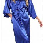 Femmes Chemise De Nuit en Satin De Mariée Longue Robe De Demoiselle d'honneur De Basic Mariée Robe Kimono Robe Femme Robe De Bain Negligee Vetement de la marque HX+fashion image 4 produit