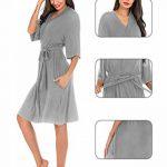 Femmes Peignoirs Kimono Coton Peignoir de Bain pour Femme Vêtements De Nuit, Spa Baignade de la marque ABirdon image 4 produit