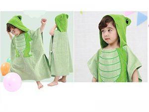 FERZA Home Serviette de Bain bébé Dessin animé Serviette de Bain pour Enfant Dinosaure Cape de Bain Nouveau-né (Vert) de la marque FERZA-children's bath towel image 0 produit
