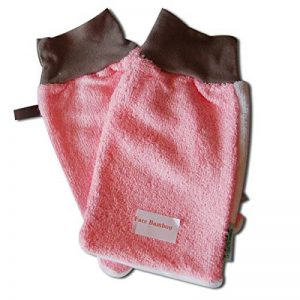 FIBAO Pack de 2 Gants Démaquillants Peaux Normales à Acnéiques Taille M Rose de la marque Fibao image 0 produit