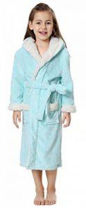 Fille Peignoir de Bain Doux Robe Polaire Longue Pyjamas à Capuche de la marque OLIPHEE image 0 produit