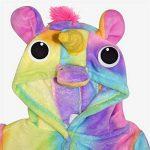 Filles Garçons Peignoir Enfants Nouveauté 3D Animal Doux Court À Capuche Toison Licorne Cosplay Peignoir Robe De Chambre Nuit Loungewear Âge 2 3 4 5 6 7 8 9 10 11 12 13 Ans de la marque A2Z+4+Kids image 4 produit