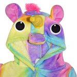 Filles Garçons Peignoir Enfants Nouveauté 3D Rosé Bébé Animal Doux Court À Capuche Toison Licorne Cosplay Peignoir Robe De Chambre Nuit Loungewear Âge 2-13 Ans de la marque A2Z+4+Kids image 2 produit