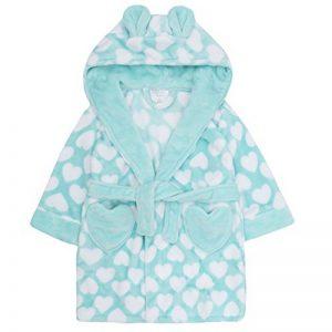 filles imprimé cœur de luxe Polaire Capuche Robe de chambre avec oreilles tailles de 2 à 13 ans de la marque Minikidz image 0 produit