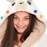 Filles Lama Robe de Chambre Polaire Chaud Enfants Vêtement de Nuit Détente Capuche - Taille 7 à 13 Ans de la marque Slumber+Hut image 1 produit