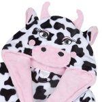 Filles Polaire Peluche Nouveauté Vache Capuche Robe de Chambre de la marque Minikidz image 1 produit