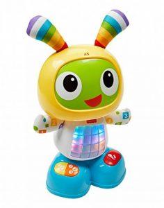 Fisher-Price Bebo le Robot Interactif Jouet d'Éveil avec 3 Modes de Jeu, Musique et Danse, Apprentissage, Enregistrement, pour Bébé de 9 Mois et Plus, CGV44 de la marque Fisher-Price image 0 produit