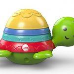 Fisher-Price Ma Tortue pour Le Bain jouet flottant pour permettre à bébé de s'amuser à empiler, filtrer et verser de l'eau, dès 6 mois, DHW16 de la marque Fisher-Price image 3 produit