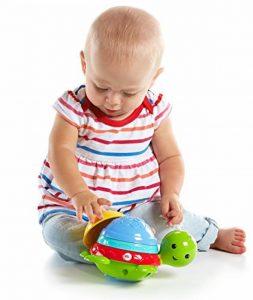 Fisher-Price Ma Tortue pour Le Bain jouet flottant pour permettre à bébé de s'amuser à empiler, filtrer et verser de l'eau, dès 6 mois, DHW16 de la marque Fisher-Price image 0 produit