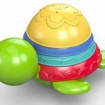 Fisher-Price Ma Tortue pour Le Bain jouet flottant pour permettre à bébé de s'amuser à empiler, filtrer et verser de l'eau, dès 6 mois, DHW16 de la marque Fisher-Price image 4 produit