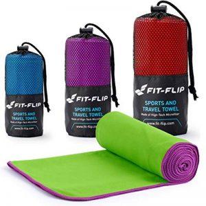 Fit-Flip Serviette Microfibre de avec coture de Couleur Pur Yoga, Sport, Gym, randonnée de la marque Fit-Flip image 0 produit