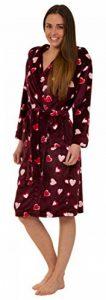 Florentina Robe de Chambre en Polaire Doux à Capuche, Motif Coeurs de la marque Florentina image 0 produit