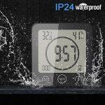 FORNORM Horloge de Salle de Bain, Alarme Numérique LCD Avec Horloge de Douche Tactile étanche, Humidité de la Température, Compte à Rebours, 3 Méthodes de Montage, Alimentation par Batterie de la marque FORNORM image 1 produit