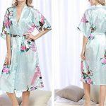 FuweiEncore Robe de Chambre Longue aux Manches Courtes Peignoir Pyjama en Satin Sexy Eté de la marque FuweiEncore image 2 produit