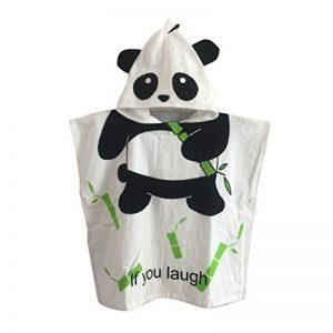 Gagacity Enfant Capuche Serviette Coton Poncho à Capuche de Bain/Plage Panda de la marque Gagacity image 0 produit