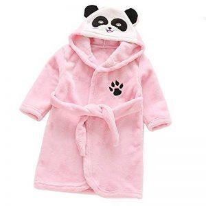 Gamins Encapuchonné Flanelle Peignoir Hiver Tigre Panda Peignoir Pyjamas Vêtements de Nuit pour 3-8 Ans Garçons et Filles de la marque D image 0 produit