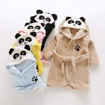 Gamins Encapuchonné Flanelle Peignoir Hiver Tigre Panda Peignoir Pyjamas Vêtements de Nuit pour 3-8 Ans Garçons et Filles de la marque D image 4 produit