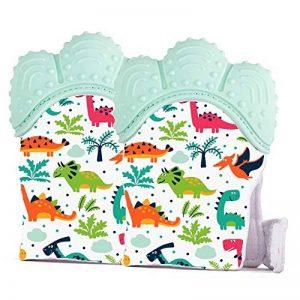 Gant de Dentition pour Bébé, Moufle Jouet de Dentition en Silicone pour Garçon, Soulage et Calme les Nourrissons (Paquet de 2) de la marque Jomolly image 0 produit