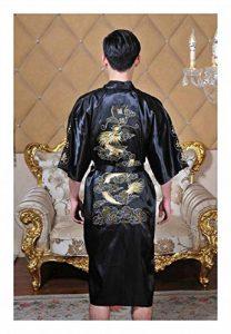 GAOHUI Les Hommes Saisons Loisirs Confort Peignoirs Chinois Dragon Peignoir en Soie de la marque GAOHUI image 0 produit