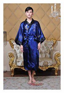 GAOHUI Les Hommes Vent Chinois Peignoir en Soie Haut De Gamme Chinese Dragon Broderie Peignoir de la marque GAOHUI image 0 produit