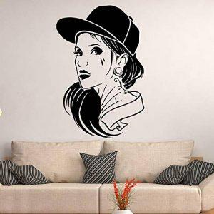Geiqianjiumai Appliques de Vinyle de décoration de Maison de Fille Mignonne Fille Chambre Applique Mur Noir l 43 cm x 64 cm de la marque Geiqianjiumai image 0 produit