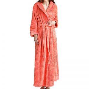 GODGETS Peignoir Femme Velours Robe de Chambre Polaire Chaud Long Flanelle Peignoir de Bain Homme Eponge Hiver Longue de la marque GODGETS image 0 produit