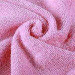 Golden Rule Premium Gant de toilette Serviette de bébé à capuche Super épais et doux et absorbant Serviettes de bain de bambou pour nouveau-né fille ou garçon et enfants (rose) de la marque YMHPRIDE image 4 produit