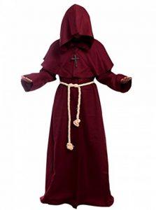 GOLDSTITCH Prêtre Peignoir Frère Médiéval Capot Encapuchonné Renaissance Moine Costume de soutane de moine avec capuche de la marque GOLDSTITCH image 0 produit