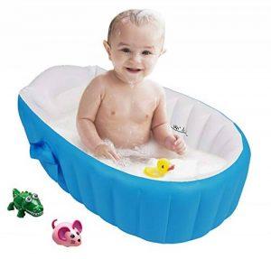Gonflable Douche de Voyage Pliable Baignoire Pour Bébé Enfants Nouveau-nés (Bleu) de la marque Bilisder image 0 produit
