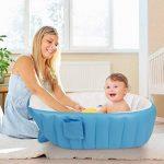 Gonflable Douche de Voyage Pliable Baignoire Pour Bébé Enfants Nouveau-nés (Bleu) de la marque Bilisder image 1 produit