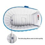 Gonflable Douche de Voyage Pliable Baignoire Pour Bébé Enfants Nouveau-nés (Bleu) de la marque Bilisder image 4 produit