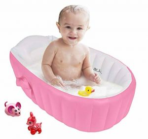 Gonflable Douche de Voyage Pliable Baignoire Pour Bébé Enfants Nouveau-nés (Rose) de la marque Bilisder image 0 produit