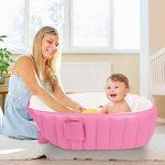 Gonflable Douche de Voyage Pliable Baignoire Pour Bébé Enfants Nouveau-nés (Rose) de la marque Bilisder image 1 produit