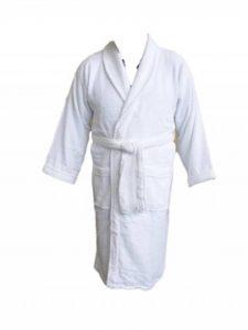 Grand peignoir de bain blanc - Personnalisable de la marque AJ image 0 produit