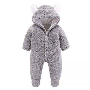 Grenouillères à Capuche Bébé Naissance Manches Longues Combinaison Barboteuse Ensemble de Pyjama 3mois à 12 mois de la marque De-feuilles image 0 produit