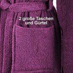 Gräfenstayn Peignoir de Bain avec Capuche en 100% Coton avec Sceau Oeko-Tex en Plusieurs Couleurs et Tailles/Super Absorbant pour Femmes et Hommes de la marque Grfenstayn image 2 produit